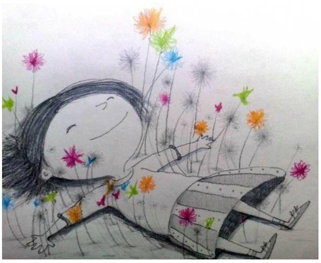 dessin-petite-fille-en-relaxation-1