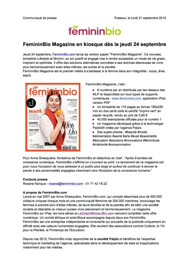 CP Magazine FemininBio - 20150921